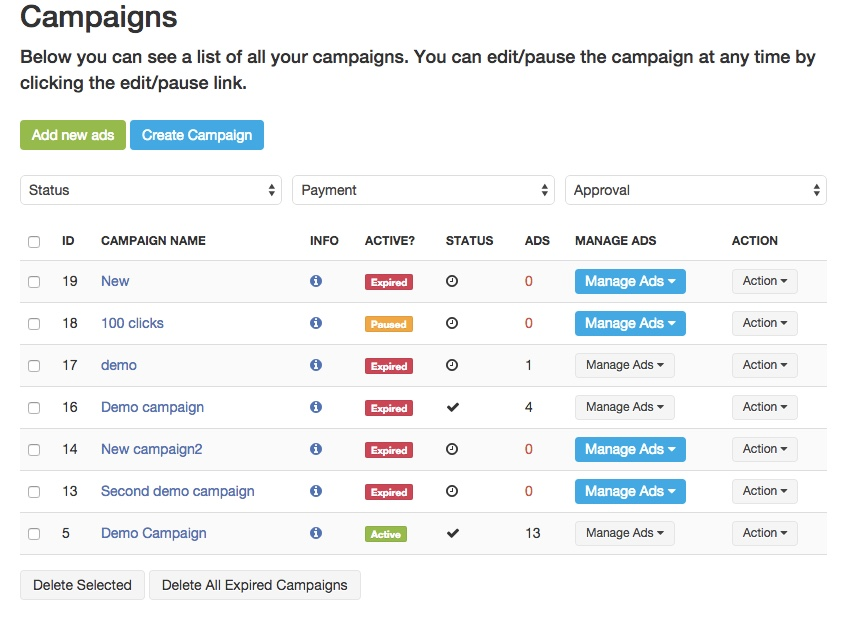 Joomla campaign manager